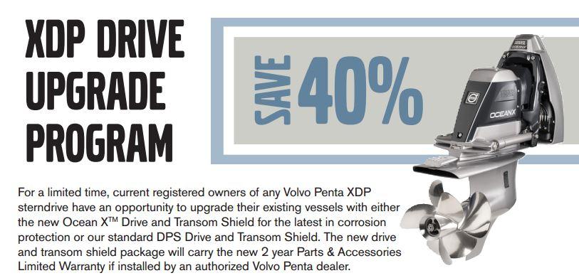 Xdpupgrade on Volvo Penta Marine Engine Parts